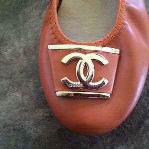 Orange leather CC ballet flats Cornwall Ontario image 4