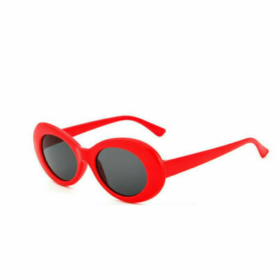 red Clout Goggles Sunglasses Rapper Kurt Cobain Oval Shades Grunge Unisex