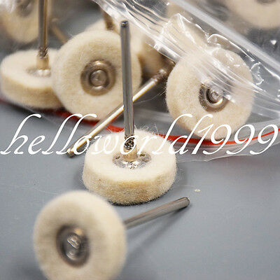 Dental Prophy Polishing Brush Wool Alumina Cotton Felt Pad Wheel Grinder Buffing