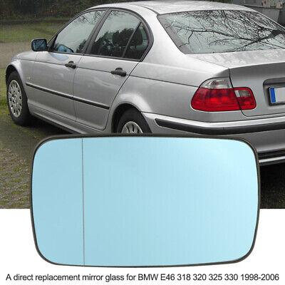 Blue Right Mirror Glass Heated for BMW 3-Series E46 Sedan//Wagon//Compact 98-06
