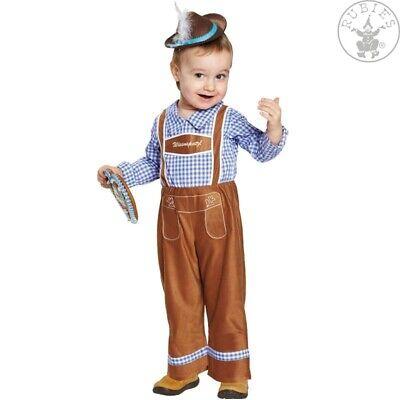 Rubies 12638 - Peter, Kinder Kostüm, Oktoberfest Lederhosen Overall Gr. 92 - - Lederhosen Kostüm Kinder
