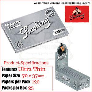 Smoking-Ultrasottile-Doppio-Confezione-Regolare-Cartine-3-6-12-amp-25-Completa
