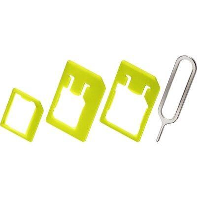 SIM-Karten-Adapter-Set SIM / Nano / Micro + Öffner für iPhone von goobay