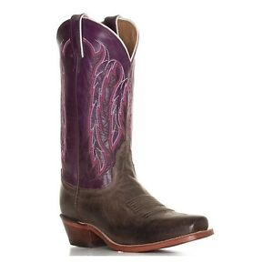 Nocona-Ladies-Chocolate-America-Purple-Willow-Boot-LD4053-New