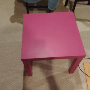 little pink table