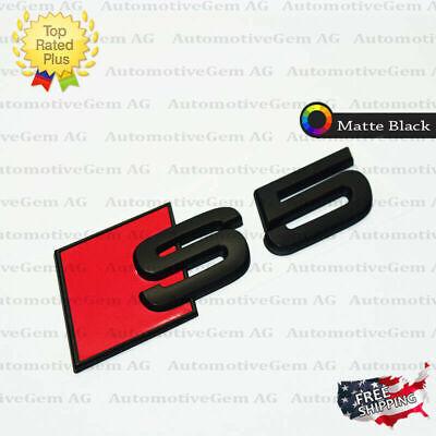 Audi S5 Emblem Matte Black Rear Trunk Lid Letter Badge S Line Logo Nameplate