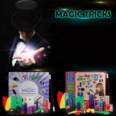 Magic Kits For Kids (Beginners Magic Set kit for Kids  Exciting Magician Tricks Instruction Gift)
