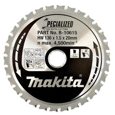 Makita B-10615 Circular Saw Blade 136mm X 20mm X 30t Mild Steel Cordless