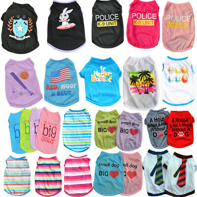 Cute Small Pet Dog Clothes Costume Puppy Cat T-Shirt Summer Apparel Summer Vest - Costumes For Pets