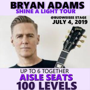 BRYAN ADAMS @ BUDWEISER STAGE –AMAZING CENTRE FLOOR 102 LVL TIX
