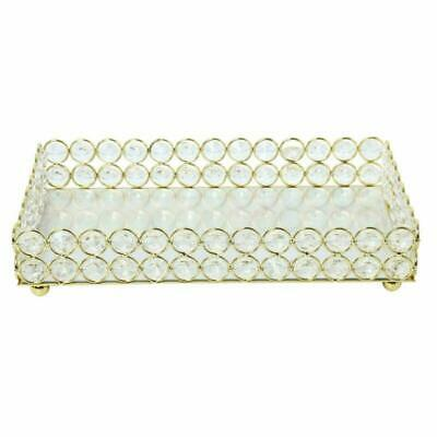 Gold Tray Mirrored Crystal Vanity Trinket Decorative Trays for Perfume Jewelry