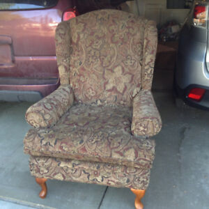 WING CHAIR-FABRIC