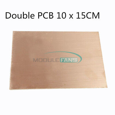 1510pcs 1.5mm Thickness Double Pcb Copper Clad Laminate Board 1015cm Fr4