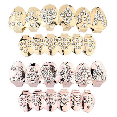 Teeth Caps Grillz Top Bottom Set Hip Hop Tooth Jewelry False Funny For Men - Fake Teeth Grillz