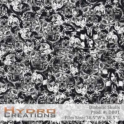 Hydrographic Film For Hydro Dipping Water Transfer Film Diabolic Skulls