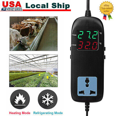 Digital Thermostat Temperature Controller Socket For Vegetable Greenhouse