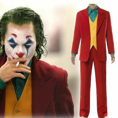 Phoenix Halloween Costume (Joker Cosplay Movie Joaquin Phoenix Arthur Fleck Halloween Costume Custom)