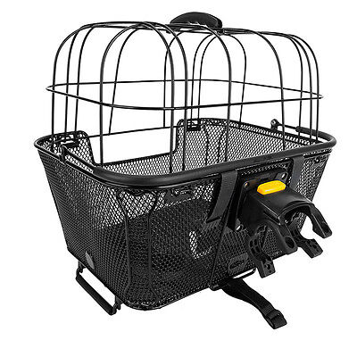 Sunlite Bicycle Basket made for small pet-dog/cat-black-quick release