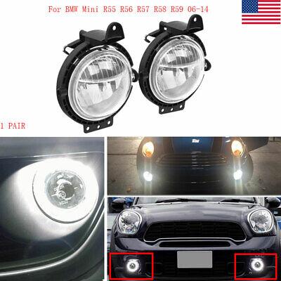 Front Bumper Fog Spot Lights Lamps O/S N/S BMW Mini R55 R56 R57 R58 Cooper 07-14