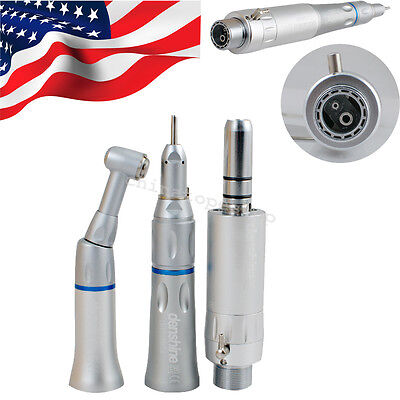 Usps Dental Slow Low Speed Handpiece Complete Kit Set Contra 2 Holes Air Motor A