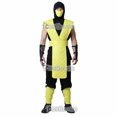 Scorpion Cosplay Costume Mortal Kombat Men Clothes Shirt Pants Mask](Mortal Kombat Costume)