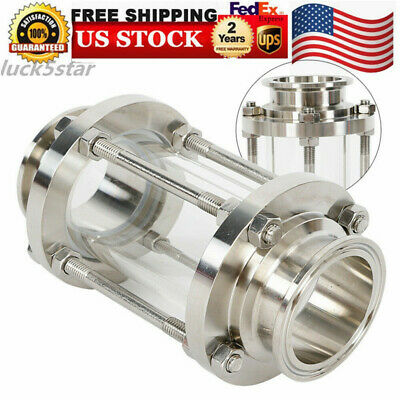 2inch 51mm Clear Flow Sanitary Sight Glass Tri Clamp Stainless Steel 304