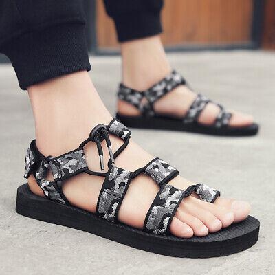 Men Beach Sandals Summer Roman Gladiator Style Flip Flop and Slip On for Outdoor - Mens Roman Gladiator Sandals