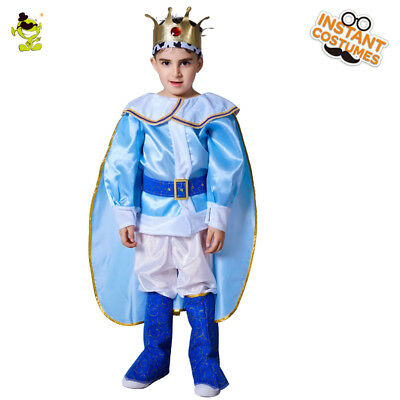 Kings Costume For Kids ( Kids Deluxe King Prince Costumes with Clown Role Cosplay Fancy Suits for)
