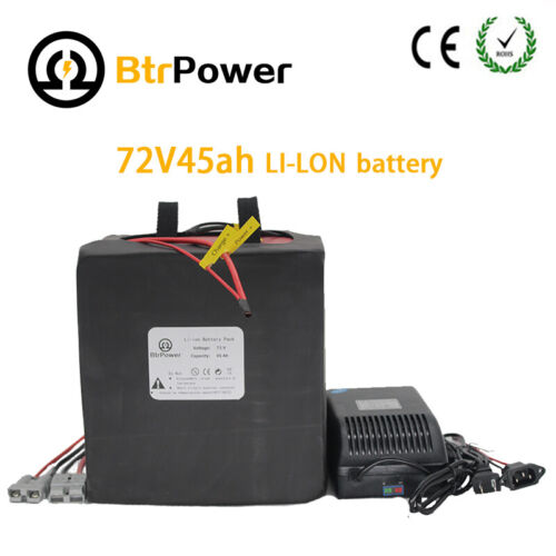 EBike Lithium Li-ion Battery 72V 45AH For 3500W Motor Scooter Electric Bicycle