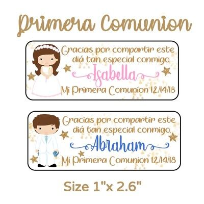 50 Pc Mi Primera Comunion Stickers Para Recuerdos, Favors & Goodie Bags - Goodie Bag