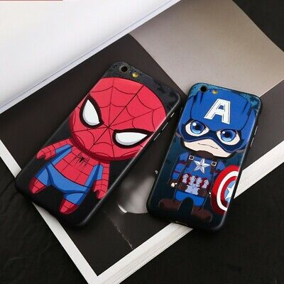 Marvel Captain America Spiderman Phone Case Cover For iPhone 7/8 Plus X/XS/XR
