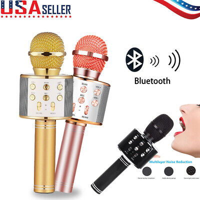 2020 KTV Wireless Bluetooth Karaoke Microphone Mic Speaker Player Music Gift