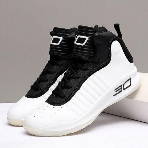 Mens Running High-Top Sneakers Schuhe Jungen Schule Basketball Sport schnüren