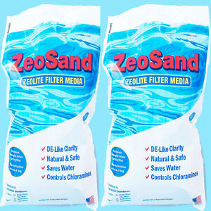 Zeosand Alternative Sand Media For Swimming Pool Sand Filter (2 x 25 lb Bags)