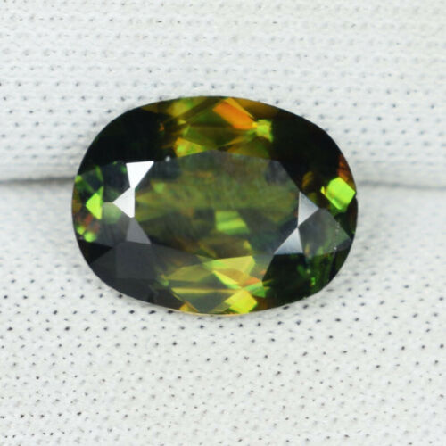 2.15 ct   ULTRA  RARE  MULTI COLOR FLASHES   NATURAL SPHENE - See Vdo - 5603 PK