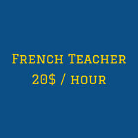 a French Teacher for your french training