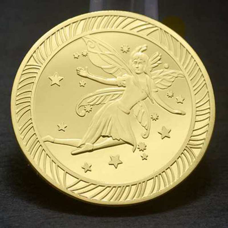 Tooth Fairy Commemorative Coin Creative Kids Tooth Change Gold Plated