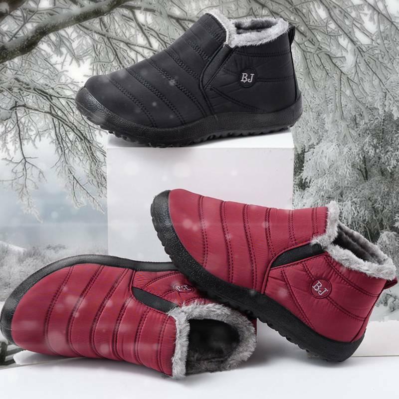 Mens Waterproof Fur Lined Ankle Shoes