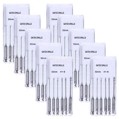 60pcs Dental Clinic Endodontic Gates Glidden Drill 32mm 1-6