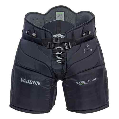 "New Vaughn Ventus SLR Pro goalie pants senior medium 34"" black Sr ice hockey"