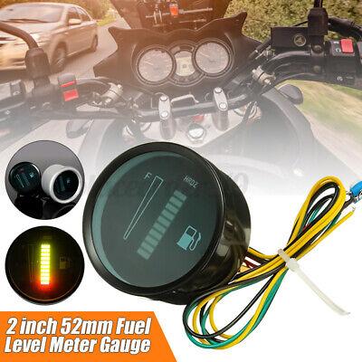 2'' 52mm Universal Car Motorcycle LED Digital Display Fuel Lever Meter Gauge 12V