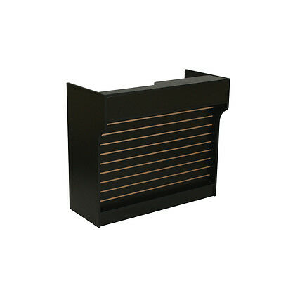 Itemltcs4b Black 4ft Ledge-top Counter W Slat Wall Front Brand New