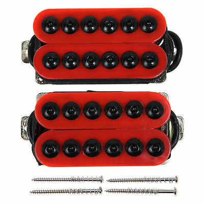 Used, Ceramic Magnet Red Guitar Humbucker Pickup Set, Bridge and Neck Invader Style for sale  Shipping to Canada