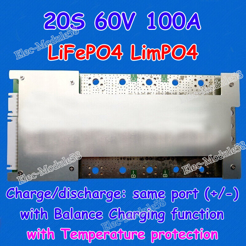 Bms/pcm For 60v(20s) 100a Lfp Lifepo4 Limpo4 Battery Pack With Balance  Function