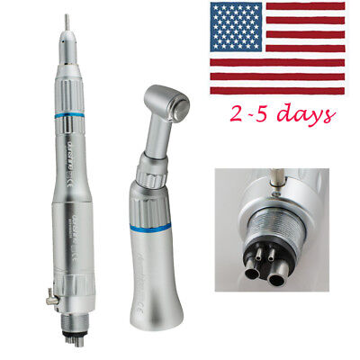 Fda Dental 4 Hole Slow Low Speed Handpiece Kits Push Contra Angle E-type Motor