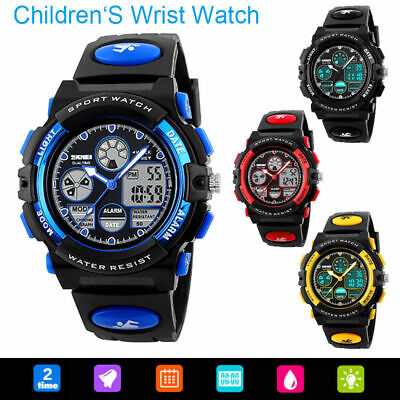 SKMEI Digital Kids Child Boys Girsl Watch Waterproof Sports Analogue Watches New