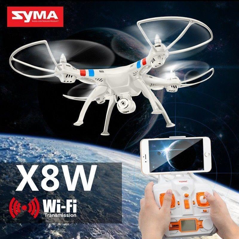 Syma X8W 4CH Gyro RC Quadcopter Explorers Drone WiFi FPV 2MP Camera US Seller