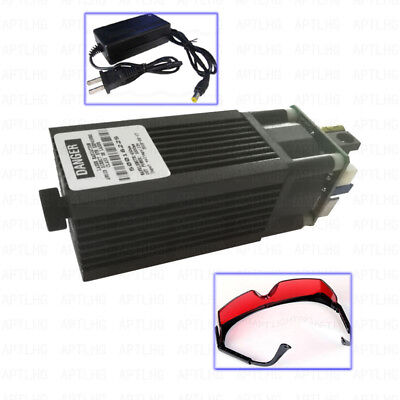 Focusable High Power 450nm 3.5w 3500mw Blue Laser Module Ttl Carving Burning