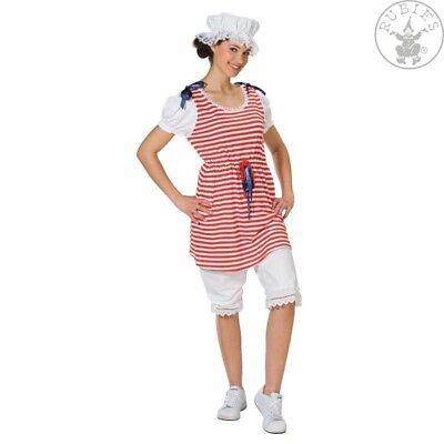 Rot Weiß Kleid Kostüm (RUB 13720 Badekleid Kleid gestreift rot weiß Damen Karneval Kostüm)