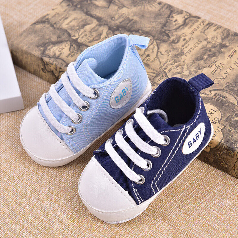 Toddler Boy Girl 20 colors Sole Shoes Sneakers_
